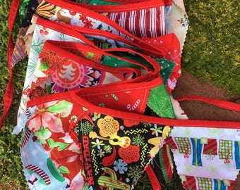 Christmas Holidays fabric bunting