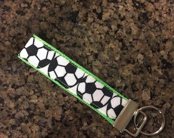 Key Fob Wristlet Keychain/Soccer
