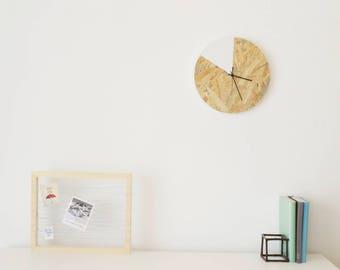 Wooden Wall Clock Wood Clock Modern Clock OSB Clock