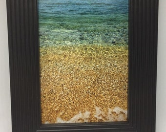 Photography Framed - Limited Edition - Ocean Waves Sand