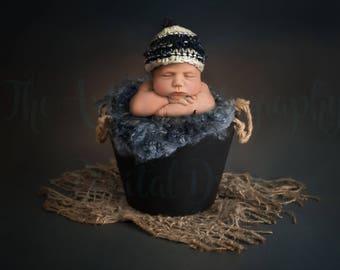 Newborn Baby Boy Bucket Digital Backdrop