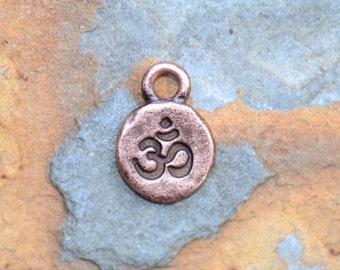 2 Antique Copper Ohm Charms, Nunn Designs 12.7 x 9.1mm