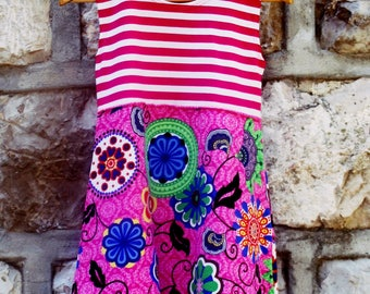 FLOR  is a gypsy dress , comfy dress , play dress , kids dress,Party dress