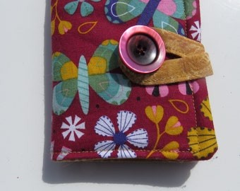 Tea Wallet , Tea Bag Holder, Cute Accessory, Purse Accessory, Butterflies and Flowers