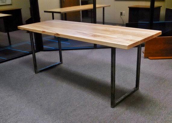 Excellent U Leg Table Desk Industrial Ambrosia Maple VK99