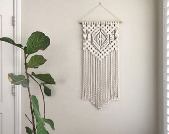 Macrame Patterns/Macrame Pattern/ Macrame Wall Hanging Pattern/Wall Hanging/Pattern/DIY/Name: Center Diamond