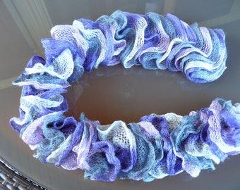 adult scarf frou-frou purple
