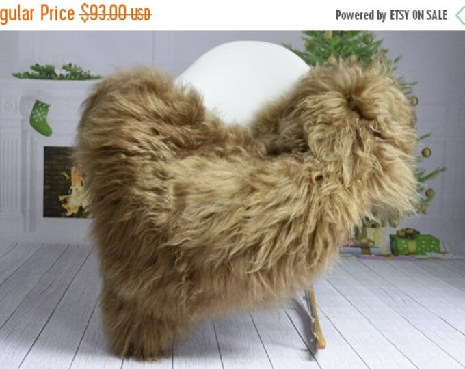 ON SALE Winter Collection - Genuine Icelandic Sheepskin Rug | Chair Cover |Super Soft Rug| Scandinavian Style | Scandinavian Rug | Blonde Sh