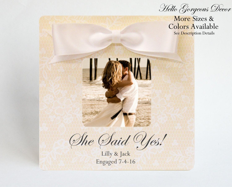 Verlobungsgeschenk Paare Bilderrahmen personalisiert sie