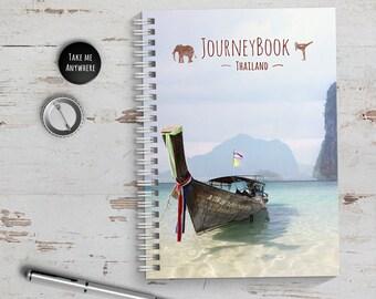 Thailand Reisetagebuch mit kleinen Aufgaben & Reise-Zitaten - zum selberschreiben oder als Abschiedsgeschenk - JourneyBook