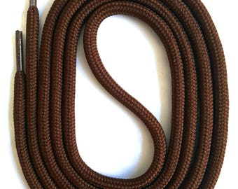 SNORS - lace - safety lace dark brown, 4 lengths, approx. 5 mm - round laces for work shoes, hiking boots, trekking shoes