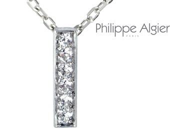 Pendant Palladium White Gold 18 k diamond