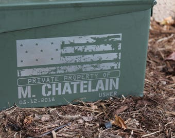Personalized Ammo Can, Groomsman Gift Box, Gifts for Men, Military Gift