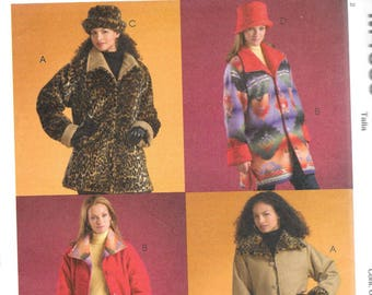 McCall's Woman's Day REVERSIBLE JACKETS & HATS Pattern 4669 Misses Sizes Xsm Sm Med