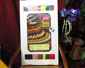 Vintage Wonder Art crochet afghan kit 45 x 60 fiesta sealed. NOS