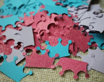 Crown Confetti, Princess Confetti, Princess Birthday Party, Princess Baby Shower, Crown Confetti Mix, Confetti Table Decoration