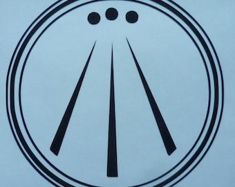 Awen Sticker Creativity Sticker Inspiration car sticker Druid awen decal Welsh awen Cornish Awen