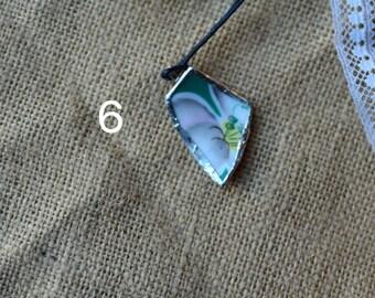 Teal Broken China Necklace Set #2