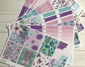 Lilac Fields Deluxe Erin Condren 6 Page Kit
