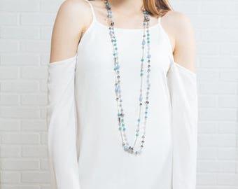 Khiara Beaded Necklace | Turquoise