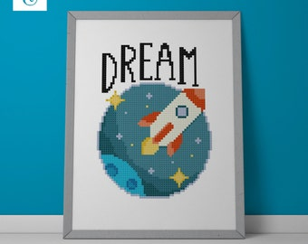 Dream Rocket - Counted Cross Stitch Pattern - Instant Download