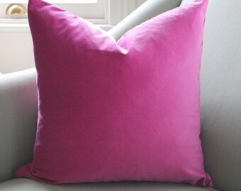 Fuschia Velvet Cushion Pillow Cover