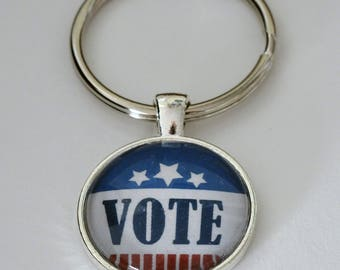 VOTE Key Rings and Pendants Mix or Match Three Items