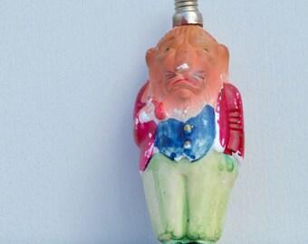 Lion Christmas Figural Light Bulb Milk Glass Vintage . Unique Bulb