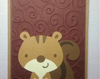 Handmade Any Occasion Squirrel Card * Father's Day * Birthday * Thank You * Get Well * Congrats