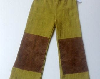 Handmade Barkcloth Boys Pants - Size 2 (2T)