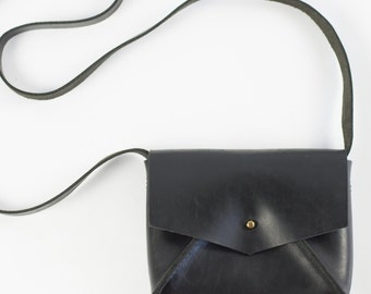 Black Leather Mini Bag