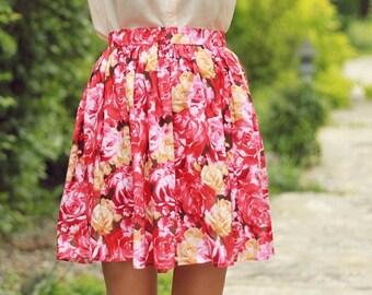 Blushing Blossom Skirt // size large