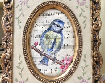 Bluetit Bird art wall art