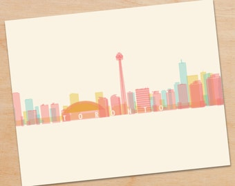 Toronto Skyline Print, Toronto Wall Art, Toronto Print, Toronto Art, Decor, skyline prints, wall art, skyline art, home decor, poster