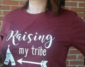 Raising my Tribe mom shirt tee t-shirt