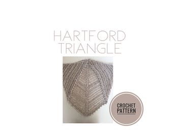 Hartford Triangle Crochet Pattern | Scarf Pattern | Shawl Pattern | Crochet Shawl Pattern | Crochet Scarf Pattern