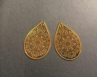 prints 6 drop 48 mm Golden jewellery designs