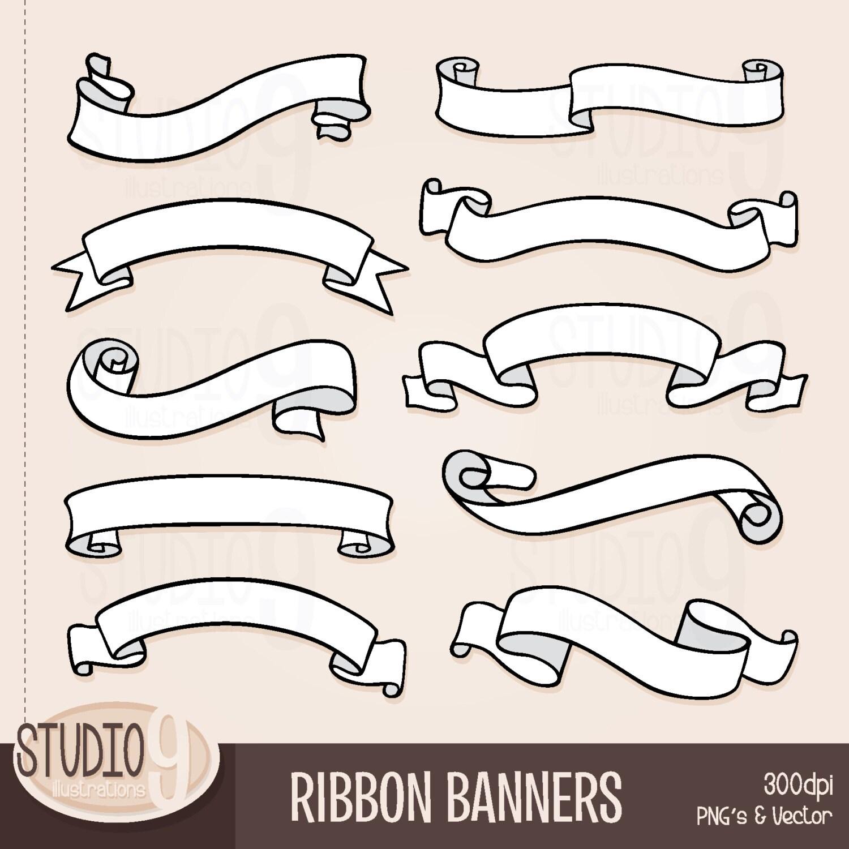 RIBBON BANNERS Clip Art: Ribbon Banner Clipart Banner