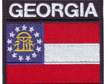 Georgia Badge Flag Embroidered  Patch