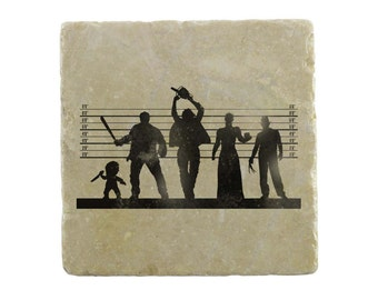 Suspects: Horror Suspects Marble Tile Coaster