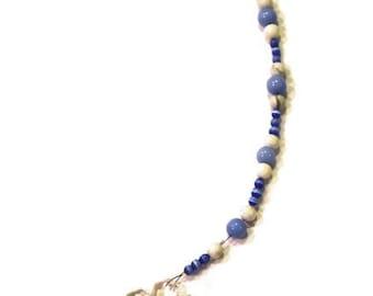 Snowflake Crystal Sun Catcher Ornament 30mm BLUE Beads Rainbows Feng Shui
