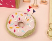 sewing kit, Craft DIY, donut, DIY Kits, diy crafts, gifts for her, galentines day, gifts, doughnut craft, sewing kit, fun sewing