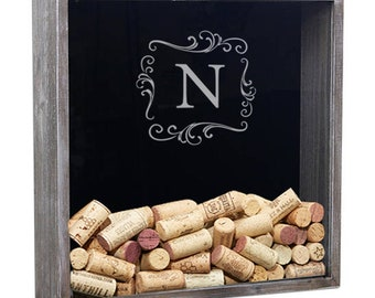 Personalized Wine Cork Holder, Shadow Box Wine Cork, Wine Lover Gift, Wedding Gift, Anniversary Gift