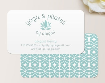 Typewriter square business card calling card mommy card yoga instructor or pilates instructor business card calling card mommy card contact card reheart Image collections