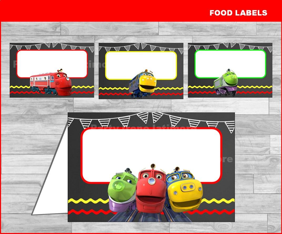 Chuggington food labels Instant download Chuggington