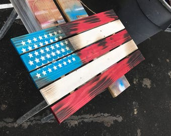 Reclaimed American Flag