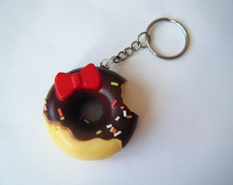 ♥ Key ♥ Donut fluffy Kitty chocolate