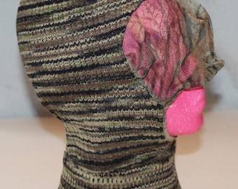 on sale Vintage ADVANTAGE Wool Knit Camo Ski Mask with Netting