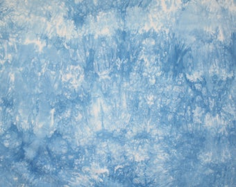 200 - Hand dyed blue cotton fabric