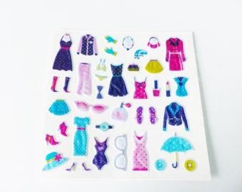 40 sticker sticker relief mode fashion garment dress swimsuit makeup perfume makeup 3D foam boot shoe accessories